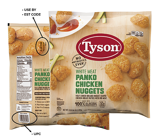 Tyson Chicken Nugget Recall They Have Rubber In Them