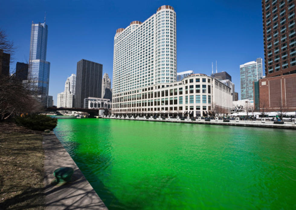 The Zumbro River Dyed Green For St Patrick S Day