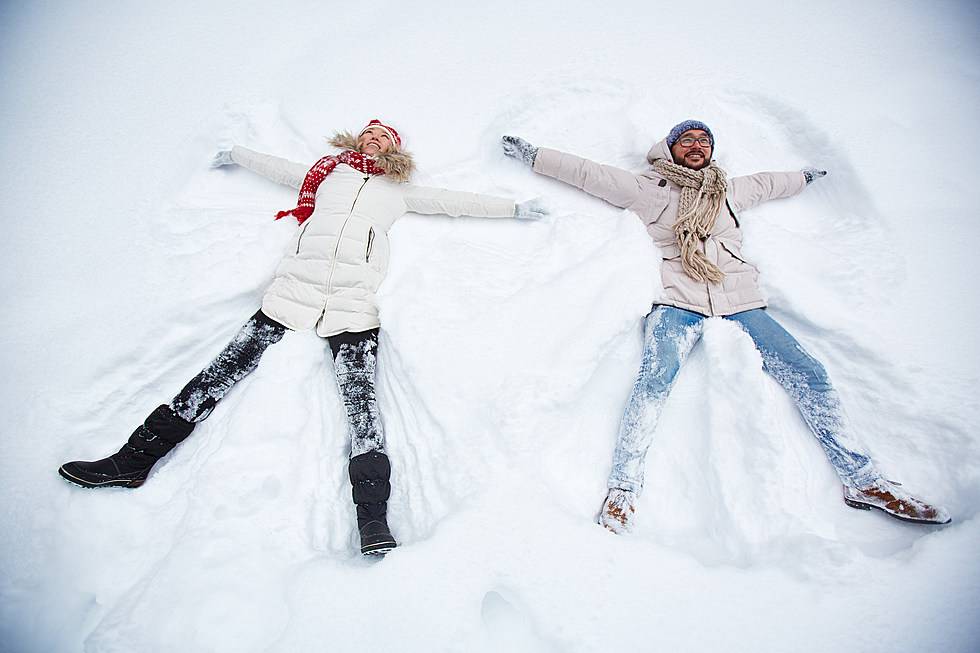 Image result for making snow angels