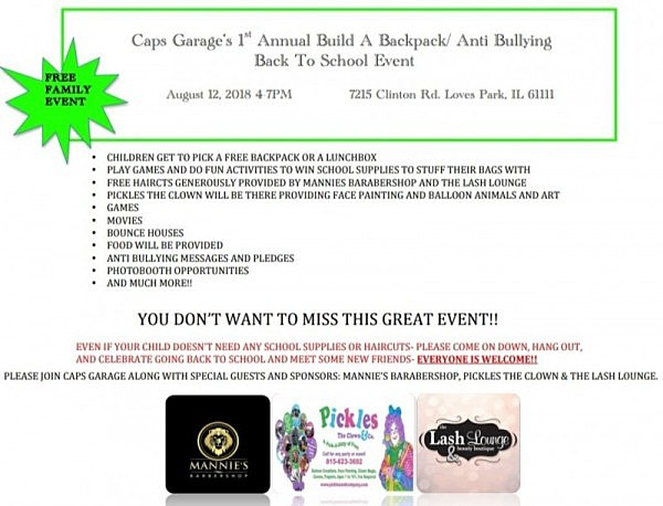 Back To School Event Offering Free Backpacks And Haircuts