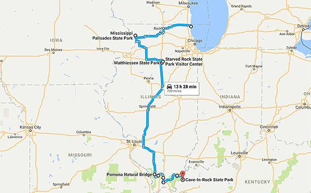 Follow This Map to See 10 Beautiful Illinois Wonders This Fall on illinois county indiana, illinois natural resources map, chicago illinois map of indiana, illinois county map world atlas, illinois physical map, clifty falls state park indiana,