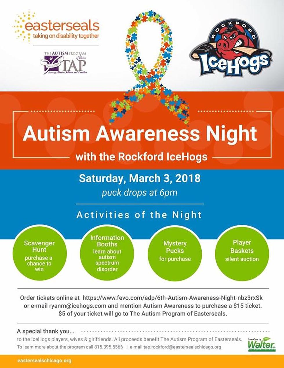 53b5e40e86f 6th Annual Autism Awareness Game with the Rockford IceHogs this Saturday