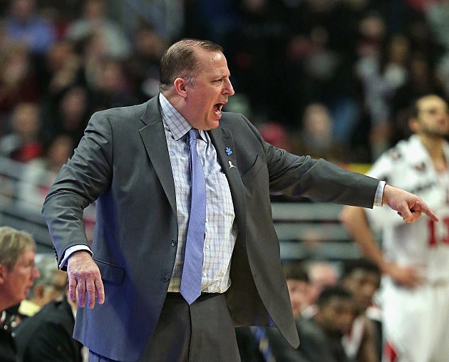 Chicago Bulls Head Coach Tom Thibodeau in action