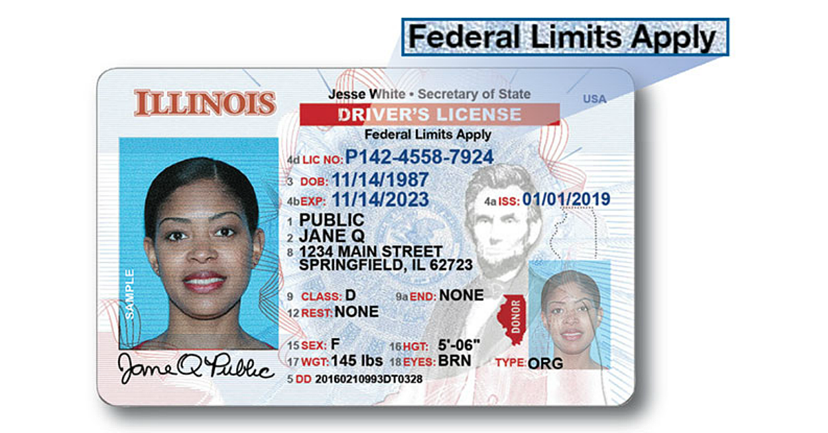 Current Illinois Drivers License Id No Longer Valid In 2020