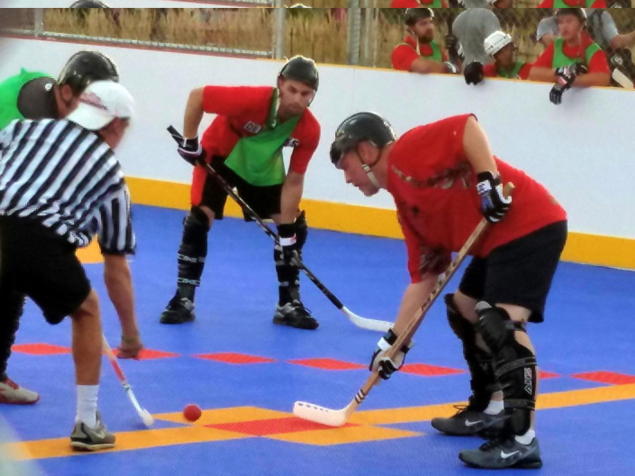 My First Dek Hockey Game, I Survived