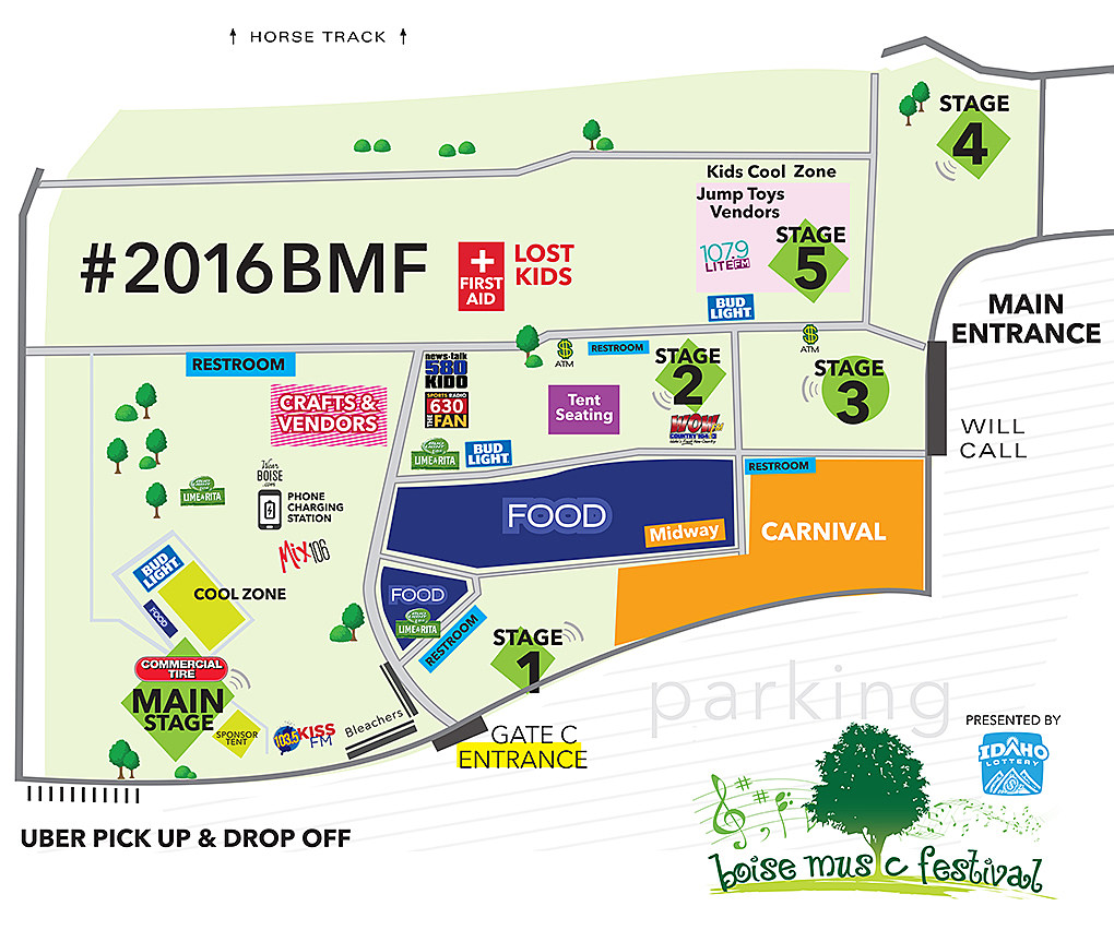 Map of Boise Music Festival | Boise Music Festival
