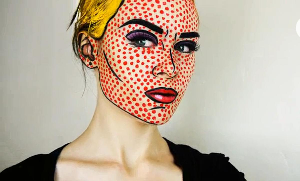 How To Apply Comic Book Pop Art Makeup