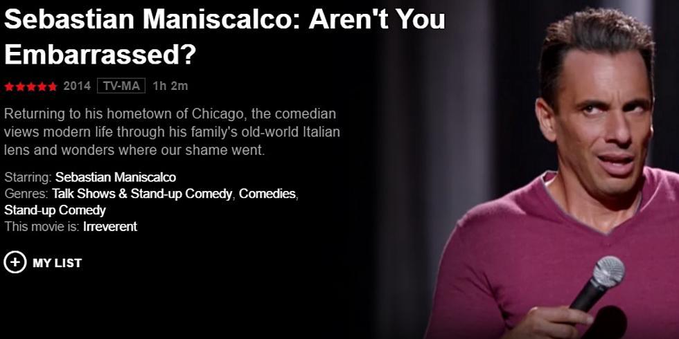 Nino's Movie Rental of the Week – Sebastian Maniscalco – Aren't You