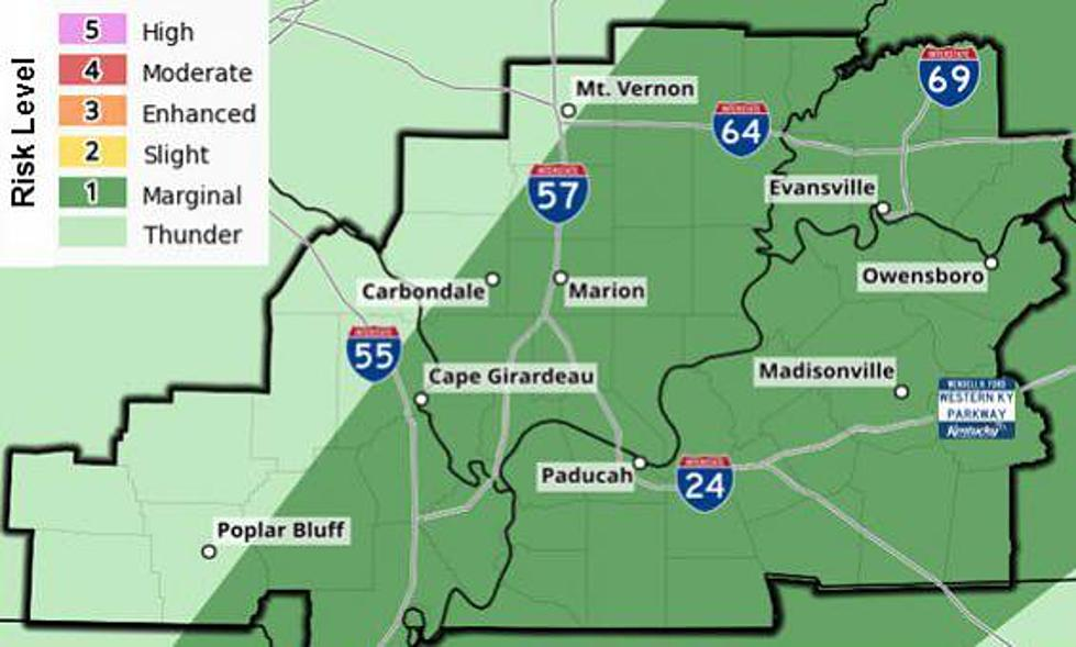 Marginal Risk of Severe Weather for the Tristate Today