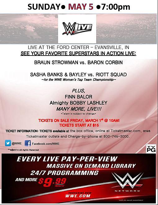 Would You Like to Win Tickets to WWE Live?