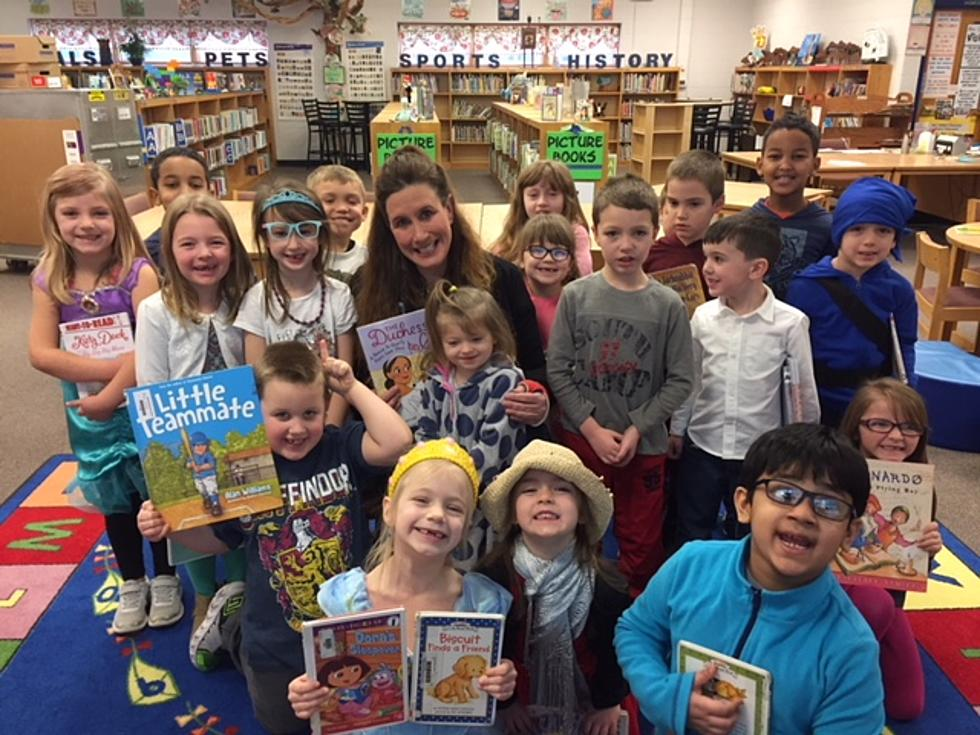 Barb Reads to Children at Highland Elementary School in