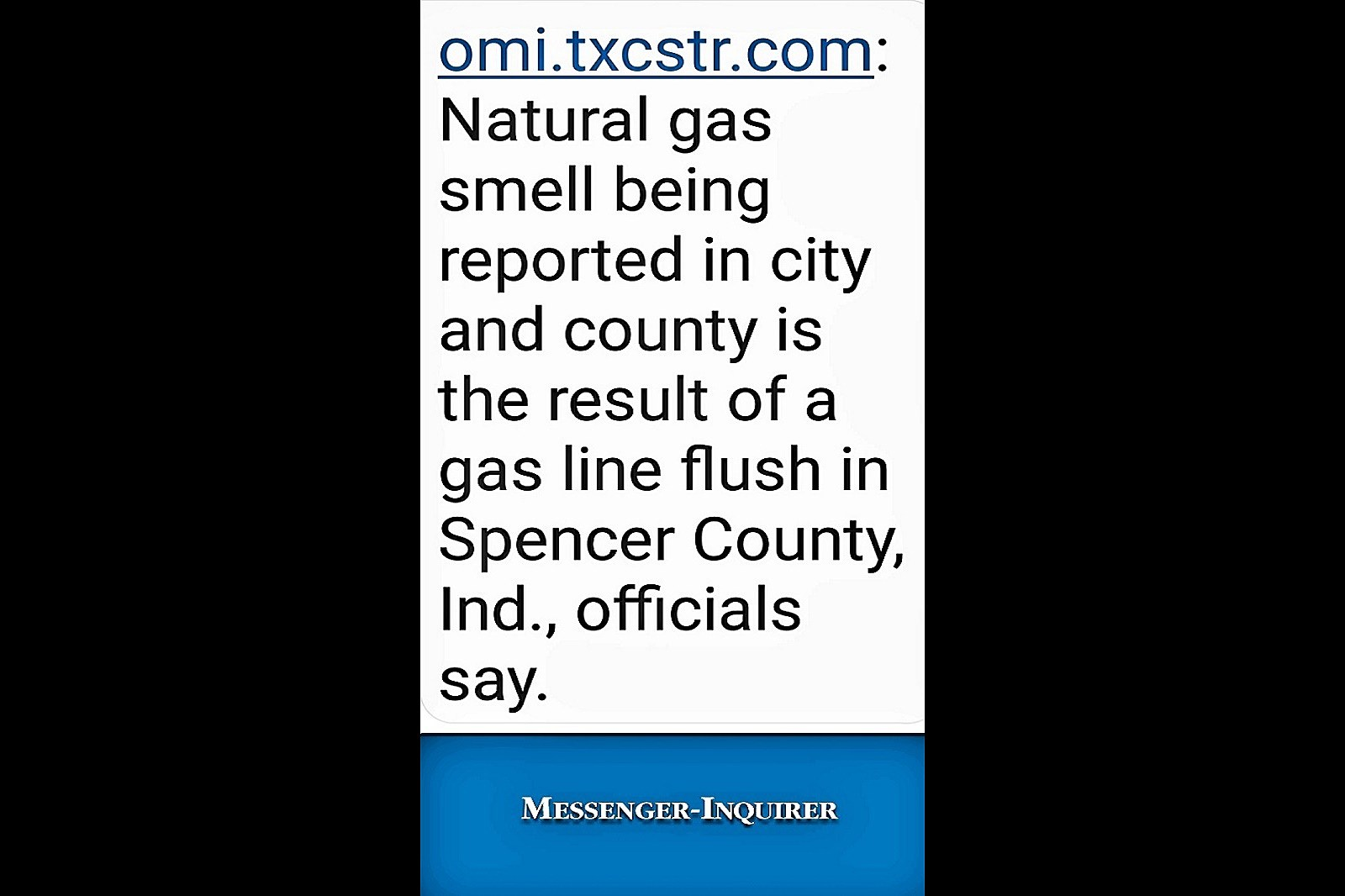 Gas Smell in Owensboro Coming from Spencer County
