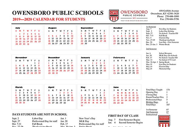 Ops Calendar 2020 2019 2020 School Calendars Released for OPS, DCPS