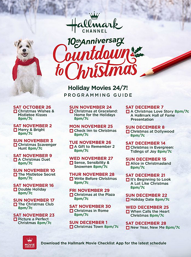 Christmas Lists For 2019.Hallmark Full List Of Brand New Christmas Movies For 2019