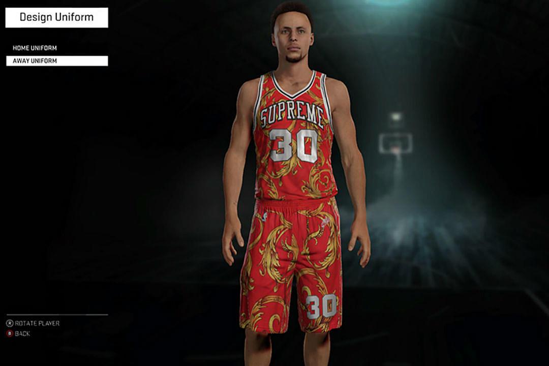 5cd892cf7b0 Supreme x Nike Jerseys Have Been Added to NBA 2K16 - XXL