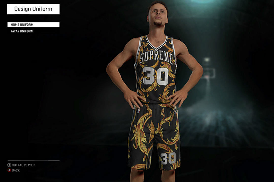 d6759857c1605 Supreme x Nike Jerseys Have Been Added to NBA 2K16 - XXL