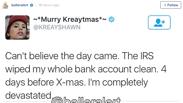 Kreayshawn's Bank Account Clean Wiped Clean by IRS - XXL