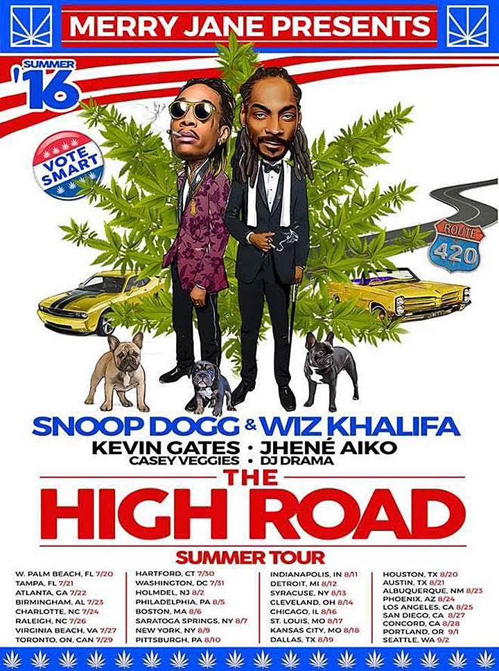 Snoop Dogg and Wiz Khalifa Are Suited Up Smokers in the