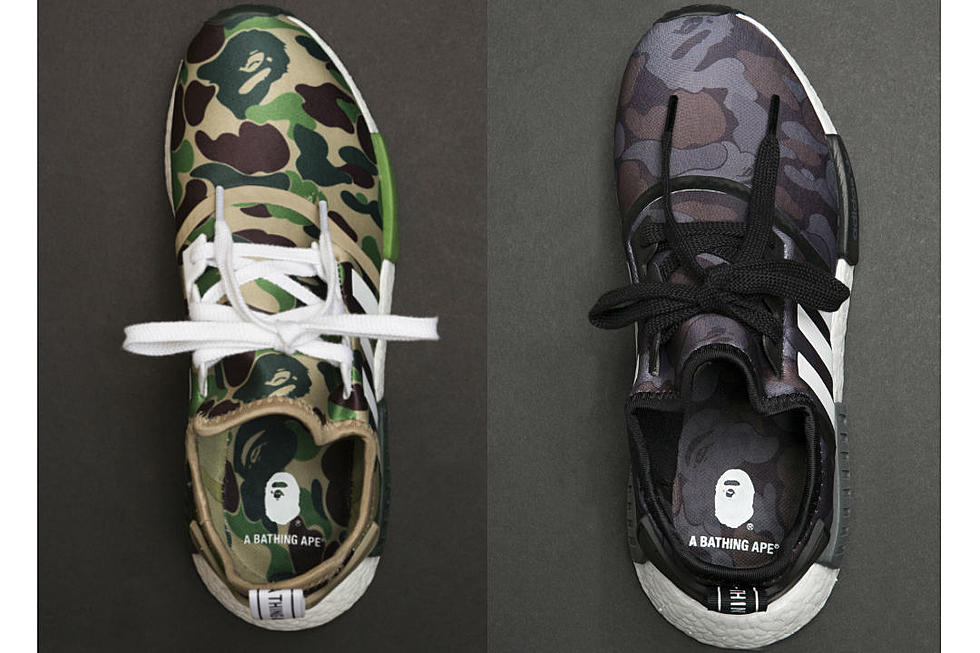 reputable site 6e59a bd0d2 Here's a Closer Look at the Bape x Adidas NMD R1 ...