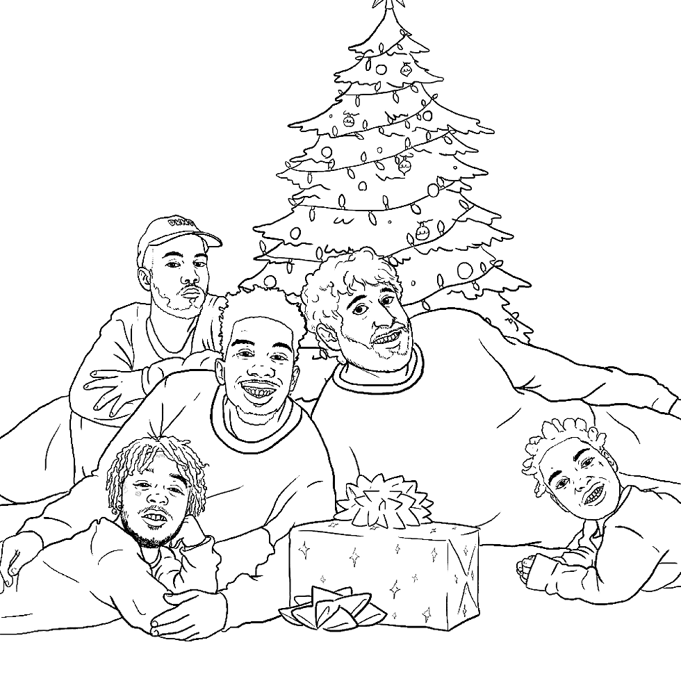 21 Savage Christmas.Lil Uzi Vert 21 Savage Featured In Hip Hop Holiday Coloring Book Xxl