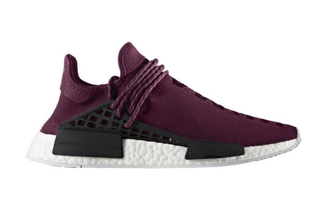 02b99bf22d496 Pharrell and Adidas Unveil the Hu NMD Noble Crimson Sneakers