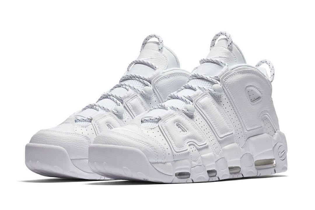 52d91a2465e591 Nike to Release Air More Uptempo Triple White in May - XXL