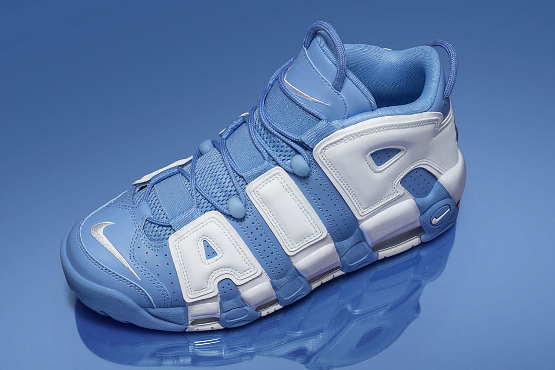 nike air uptempo light blue