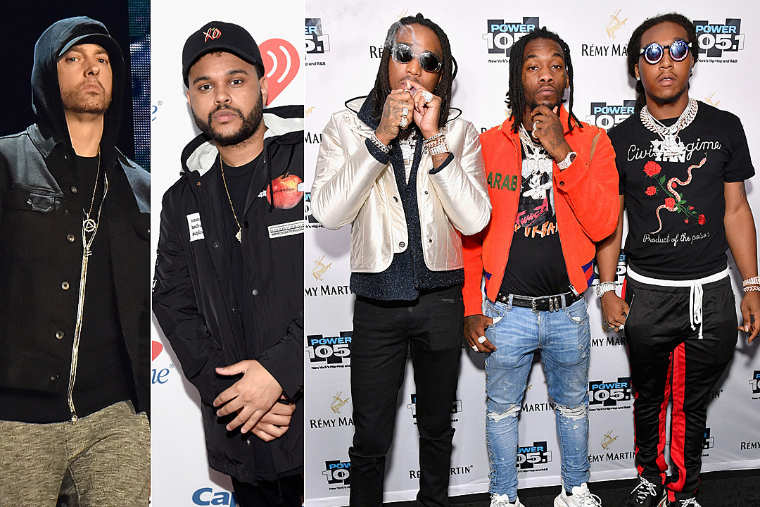Eminem, The Weeknd, Migos and More to Perform at 2018