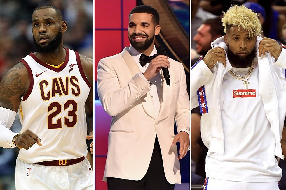 premium selection 46da5 b2089 LeBron James and Odell Beckham Jr. Enjoy Drake's ''God's ...