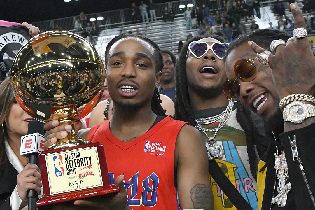 1fb3be979b87 Quavo Earns MVP Honor at 2018 NBA All-Star Celebrity Game - XXL