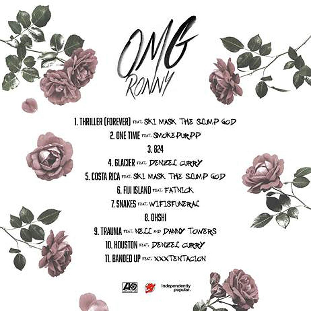 Ronny J's New 'OMGRonny' Mixtape Features Ski Mask The Slump God - XXL