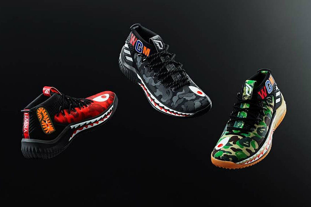 check out 30a2e d9d77 Bape and Adidas Officially Unveil Dame 4 Sneaker Collab