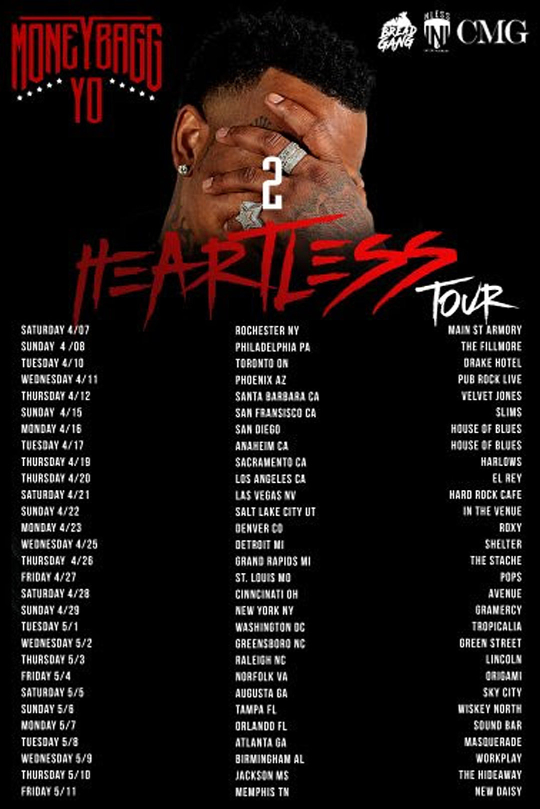 Moneybagg Yo Unveils Dates for 2 Heartless Tour - XXL