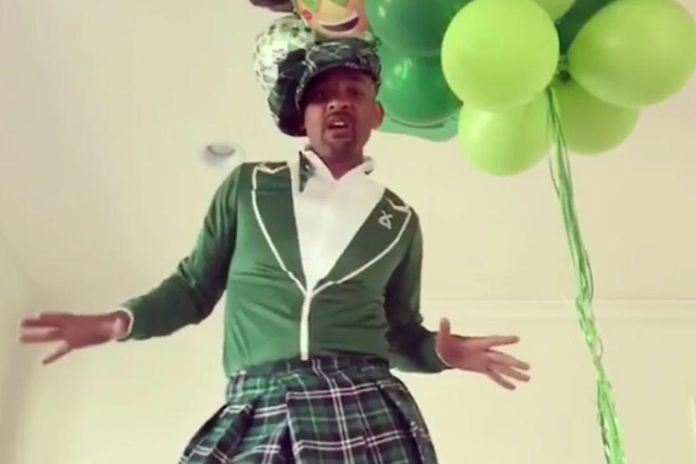 Will Smith Celebrates St  Patrick's Day by Previewing New
