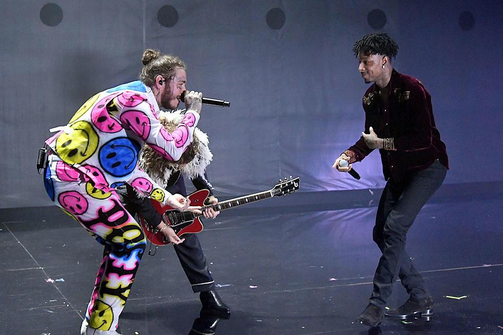 Post Malone Performs ''Rockstar