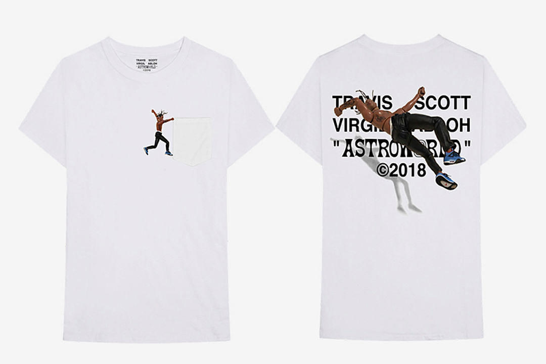 72dbea89a8a0 Virgil Abloh Unveils Travis Scott 'Astroworld' T-Shirt - XXL
