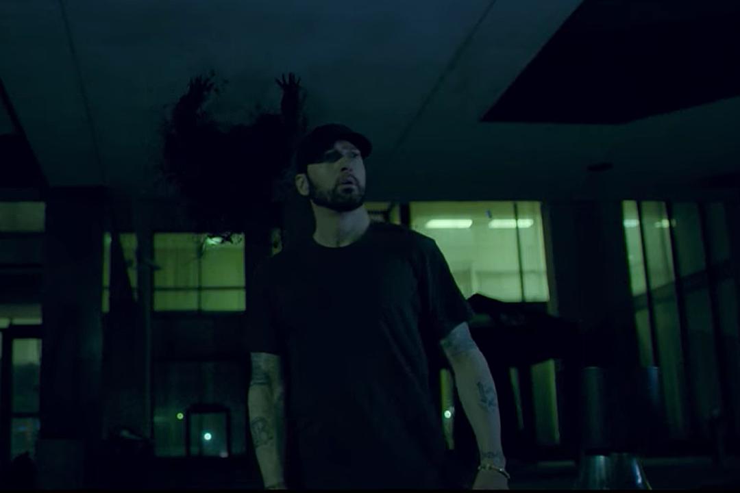 """81c5effeedf0 Eminem """"Fall"""" Video  Watch Shady Evade His Demons"""