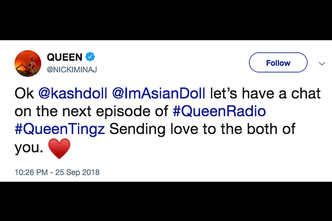 Kash Doll Rejects Nicki Minaj's Offer to Talk to Asian Doll