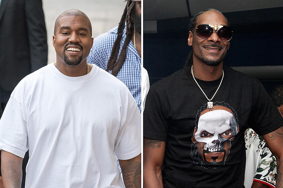 b96a26598f95 Kanye West Wears Snoop Dogg Shirt After Continued Criticism Over Trump  Support