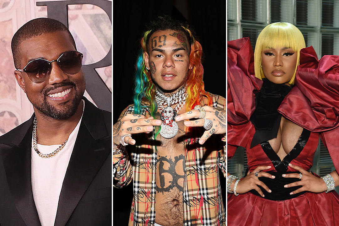 6ix9ine's Video Shoot With Kanye West & Nicki Minaj Gets