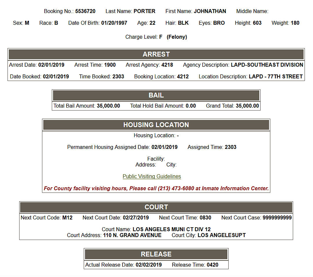 INMATE INFORMATION