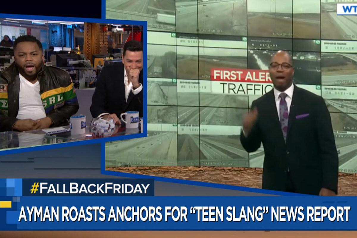 Ass Traffic Teen just blaze hilariously reacts to viral news anchors clip