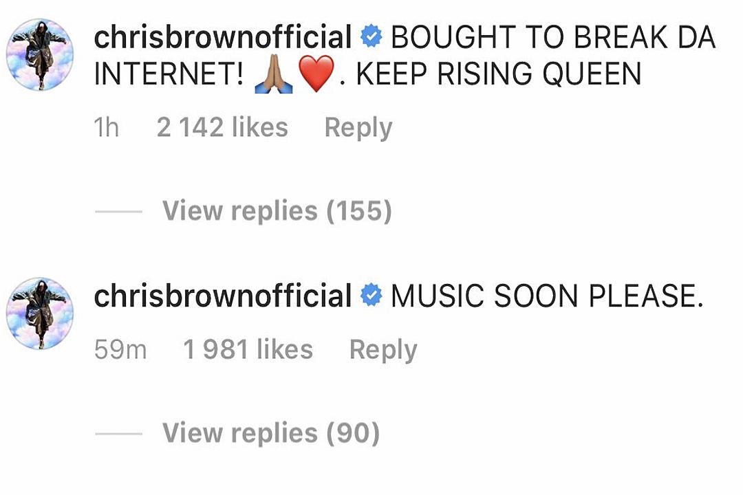 Chris Brown Calls Rihanna a Queen, Asks Her to Drop New