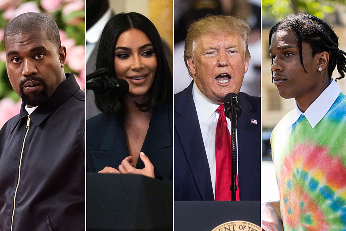 51371e7f1 Report: Kanye and Kim K in Talks With Trump to Free ASAP Rocky - XXL