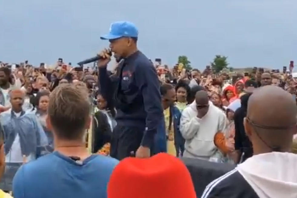 Kanye West Gets Emotional While Chance The Rapper Performs