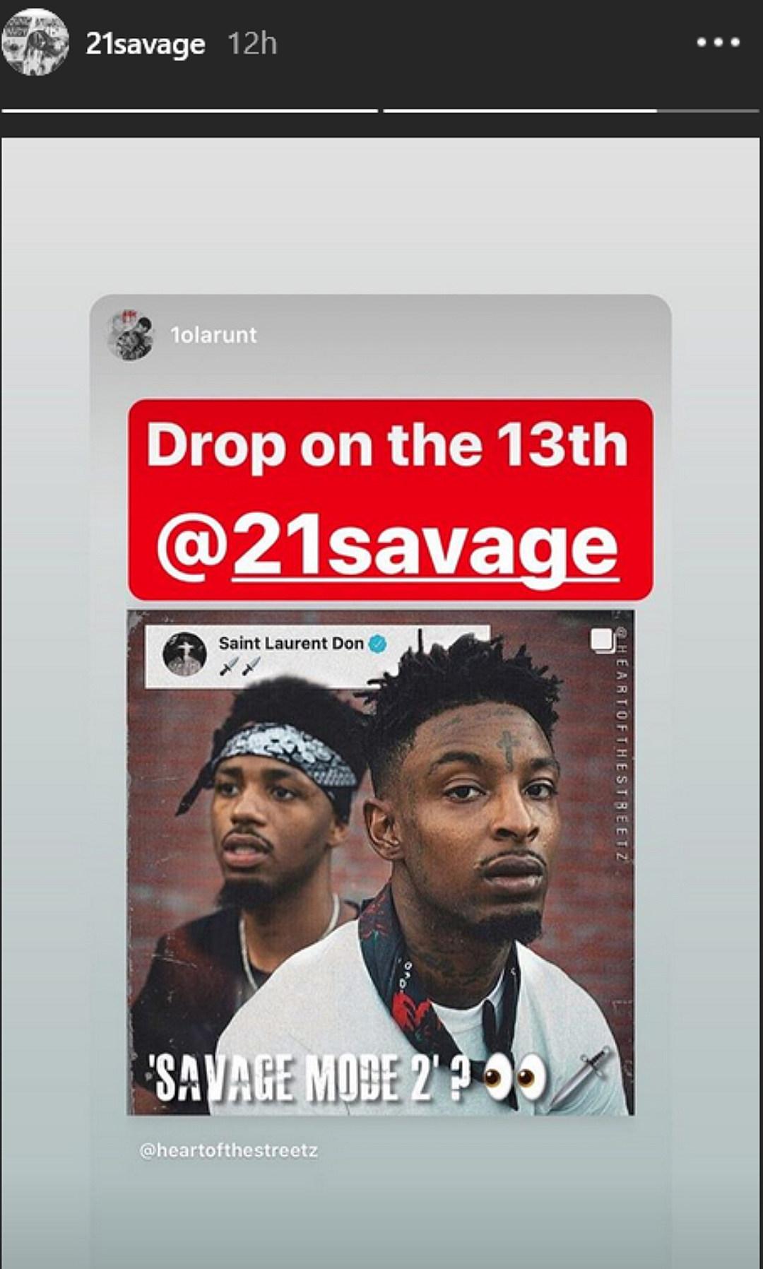 21 savage hints at savage mode 2 dropping next week xxl 21 savage hints at savage mode 2