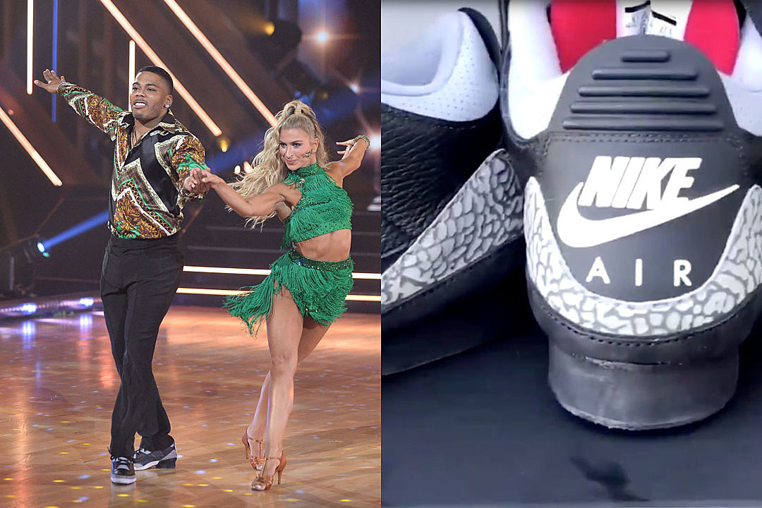 Nelly Customizes Jordan Sneakers With a Heel on DWTS