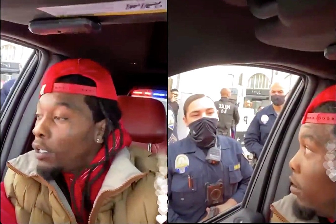 Offset Handcuffed on Livestream at Trump Rally