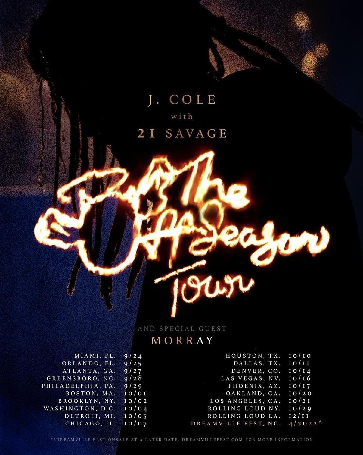 J. Cole Announces Headlining Tour With 21 Savage, Morray - XXL