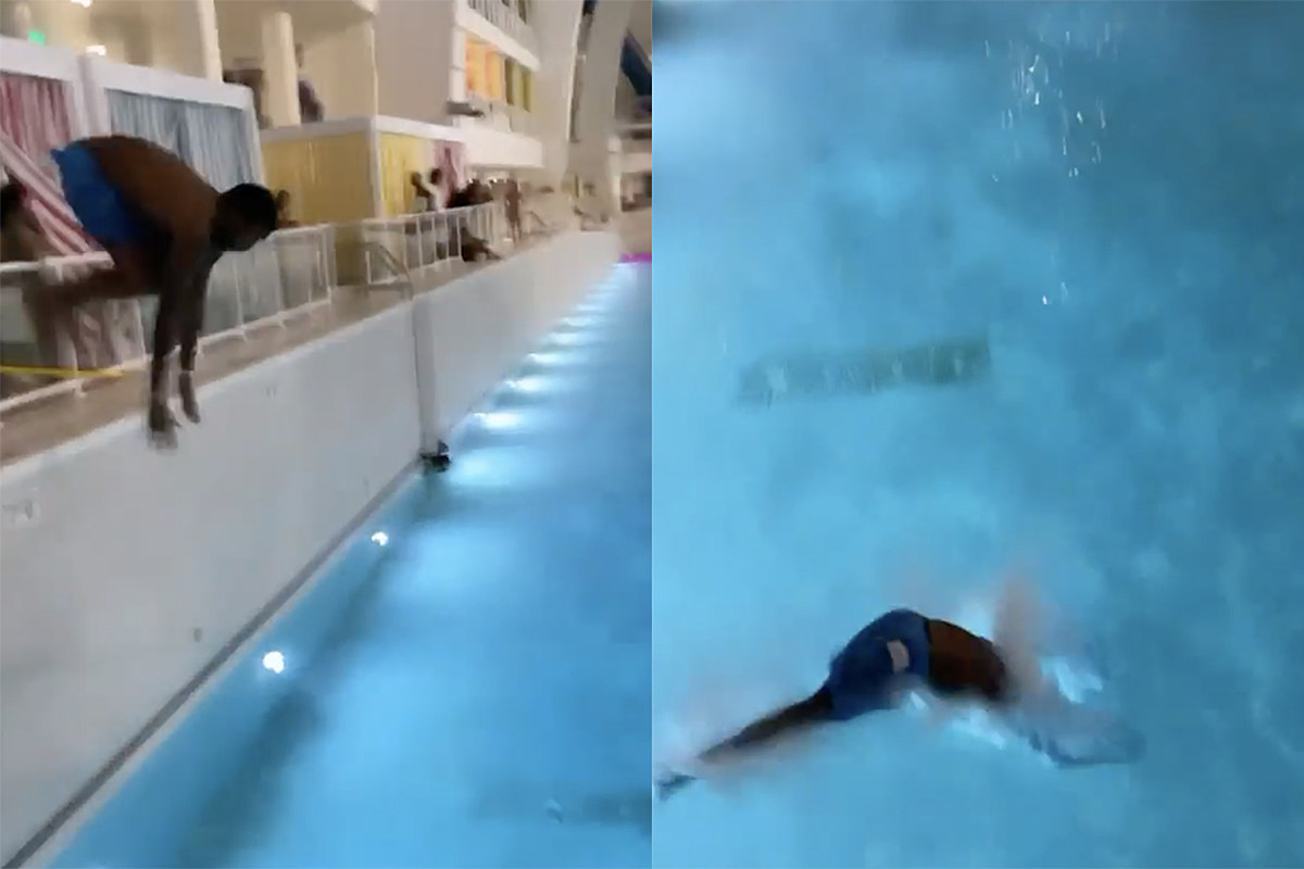 Meek Mill Attempts to Dive Into Swimming Pool, Hilariously Fails